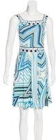 Emilio Pucci Abstract Print Sleeveless Dress