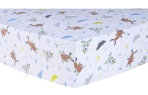 Trend Lab Gone Ice Fishing Flannel Crib Sheet Bedding