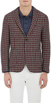 Montedoro MEN'S WOOL-BLEND JACQUARD TWO-BUTTON SPORTCOAT