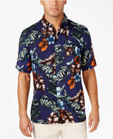 Tasso Elba Men's Big and Tall Floral Shirt, Only at Macy's
