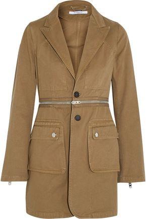 Givenchy Zip-Detailed Cotton-Twill Blazer