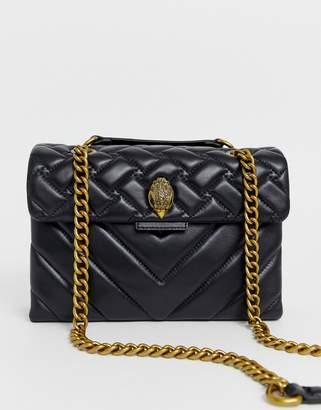 Kurt Geiger London large Kensington black leather shoulder bag with chain