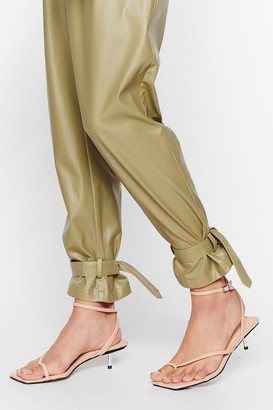 Nasty Gal Womens Got Toe Be You Faux Leather Strappy Sandals - Nude