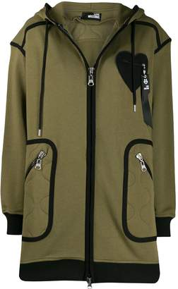 Love Moschino piped oversized hooded jacket