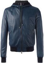 Dolce & Gabbana hooded bomber jacket - men - Lamb Skin/Polyamide/Acetate/Viscose - 48