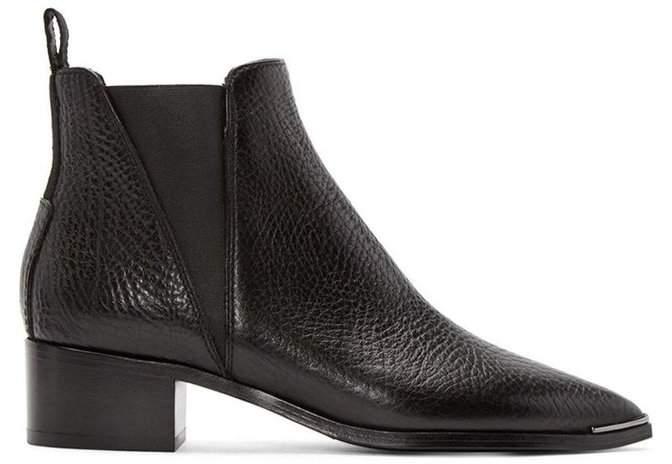 Acne Studios Jensen Grain Leather Boot Black