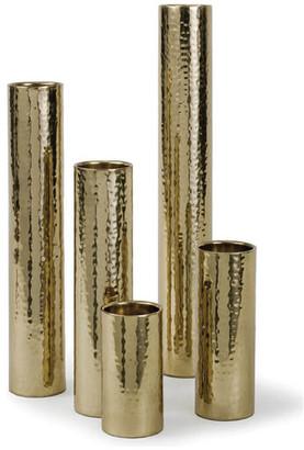 REGINA ANDREW Hammered Bud Vase Set, Polished Brass
