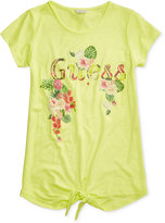 GUESS Shimmer Graphic-Print Cotton T-Shirt, Big Girls (7-16)