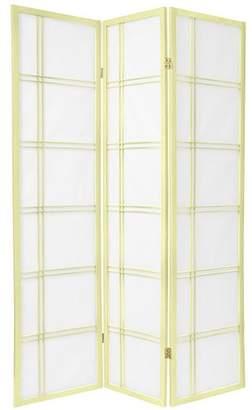 Oriental Furniture 6 ft. Tall Double Cross Shoji Screen - Special Edition - - 3 Panels