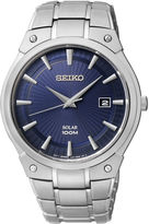 Seiko Mens Blue Dial Stainless Steel Solar Watch SKA323
