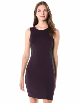 Karen Kane Women's Contrast Faux Leather Dress