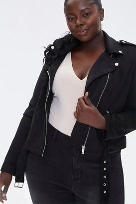 Forever 21 Plus Size Faux Suede Moto Jacket