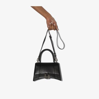 Balenciaga Black Hourglass Small Top Handle Bag