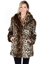 Excelled Women's Excelled Leopard Faux-Fur Coat
