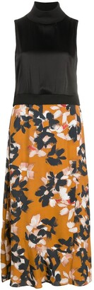 Dorothee Schumacher Contrast-Panel Floral Dress