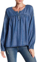 Love Stitch Hi-Lo Henley Top