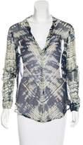 Raquel Allegra Tie-Dye Silk Blouse