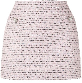 Alessandra Rich Embroidered Mini Skirt