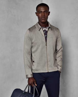 Ted Baker Linen Harrington Jacket