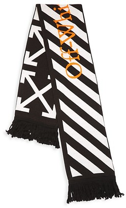 Off-White Logo Knit Scarf