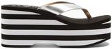 ESXRD Paradise leather platform flip-flops