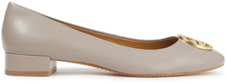 Tory Burch Logo-embellished Leather Ballet Flats