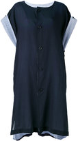Y's buttoned kaftan dress - women - Cotton/Cupro - 1