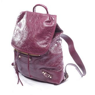 Balenciaga Purple Leather Backpacks