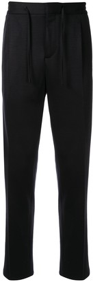 Lardini drawstring waist straight leg trousers
