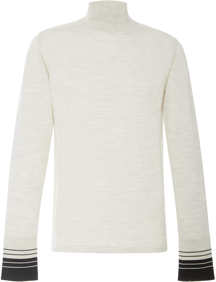 Lanvin Stripe Cuff Turtleneck Sweater