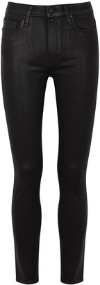Paige Hoxton Ankle Black Coated Skinny Jeans