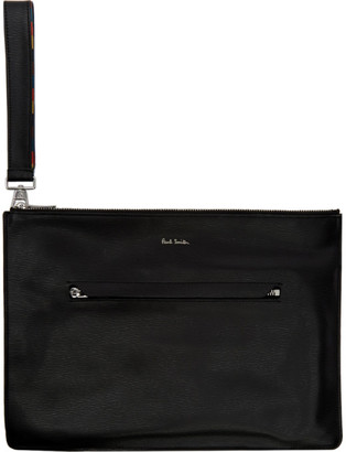 Paul Smith Black Bright Stripe Document Holder