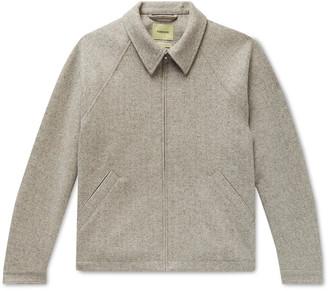 De Bonne Facture - Virgin Wool And Linen-blend Blouson Jacket - Brown