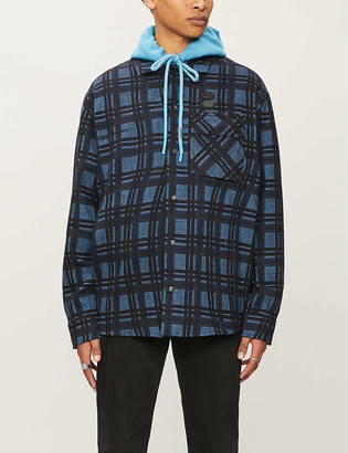 Off-White Oversized check-pattern cotton-flannel shirt