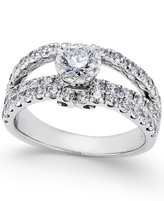 Macy's Diamond Split Shank Engagement Ring (2 ct. t.w.) in 14k White Gold