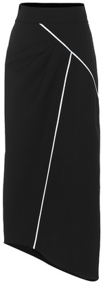 Givenchy Asymmetric wool crepe skirt