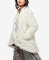 Free People Asymmetrical Faux-Fur Coat