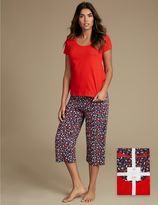 Marks and Spencer Pure Cotton Printed Pyjamas