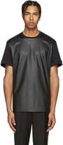 Neil Barrett Black Faux-Leather T-Shirt