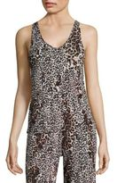 Leopard-Print Pima Cotton Tank Top