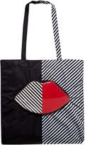 Lulu Guinness 50:50 Lip Foldaway Tote Bag