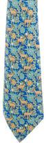 Hermes Deer Print Silk Tie