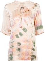 Raquel Allegra tie-dye print blouse