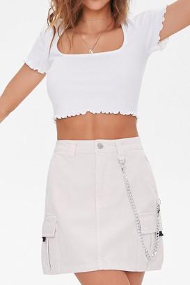 Forever 21 Curb Chain Mini Skirt