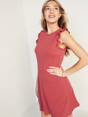 Old Navy Ruffle-Sleeve Ponte-Knit Sheath Dress for Women