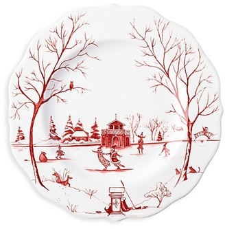 Juliska Country Estate Winter Frolic The Claus Christmas Day Dessert & Salad Plate