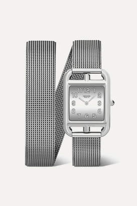 Hermes Timepieces Timepieces - Cape Cod Double Tour 23mm Small Stainless Steel Watch - Silver