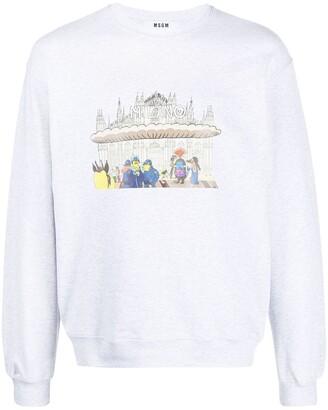 MSGM Milano crew-neck sweatshirt