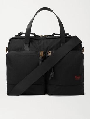 Filson Dryden Leather-Trimmed Nylon Briefcase - Men - Black