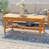 Birch Lane Brunswick Teak Coffee Table Heritage Color: Natural Teak